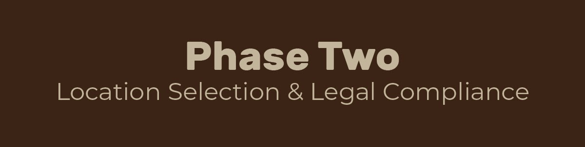 Phase Two: Location Selection and Legal Compliance