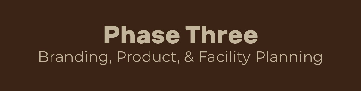 Phase Three: Branding, Product, & Facility Planning