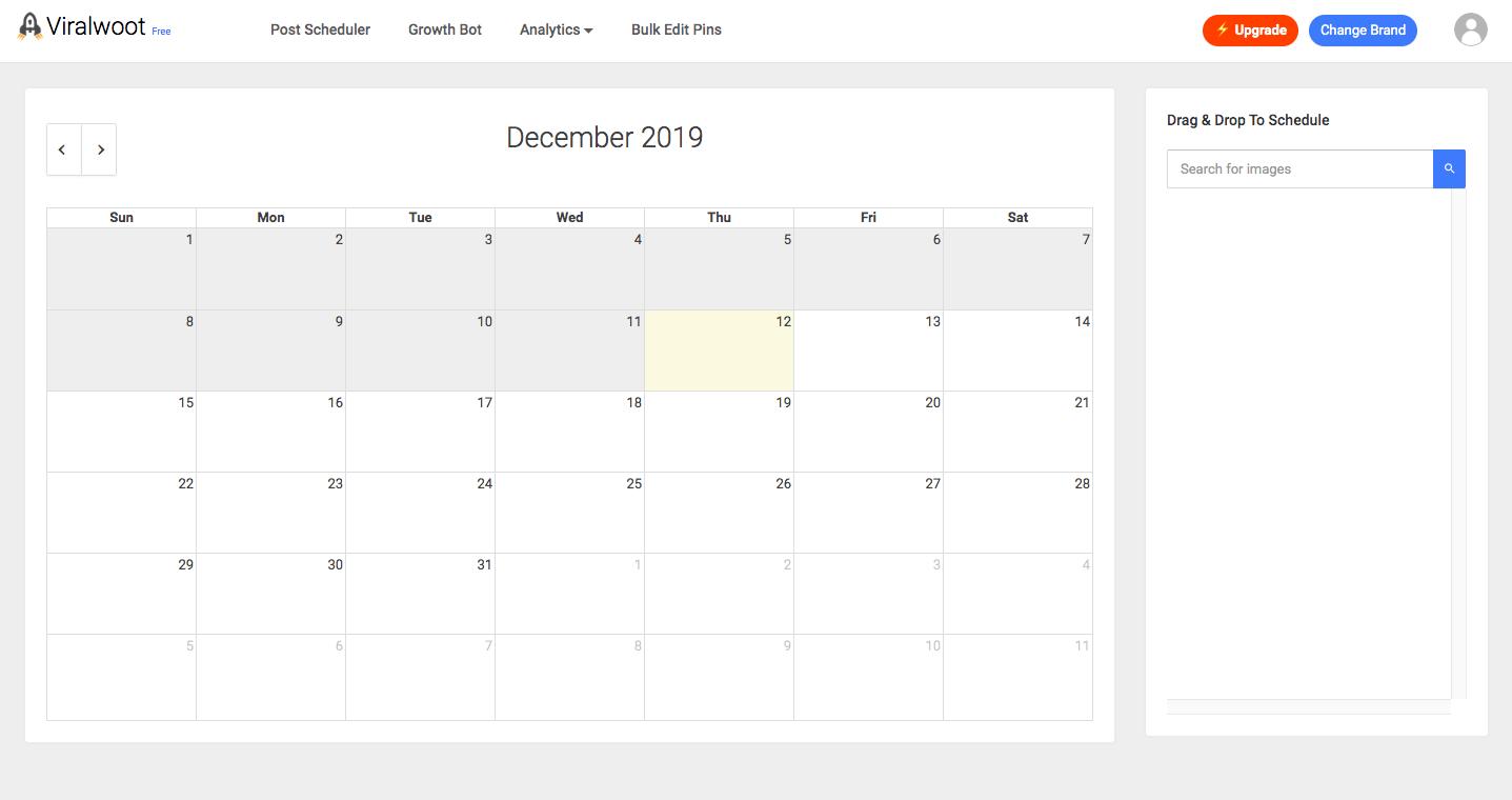 Viralwoot Social Calendar for Pinterest