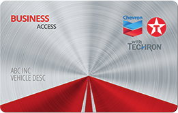 Chevron Texaco Business Access Fuel Card