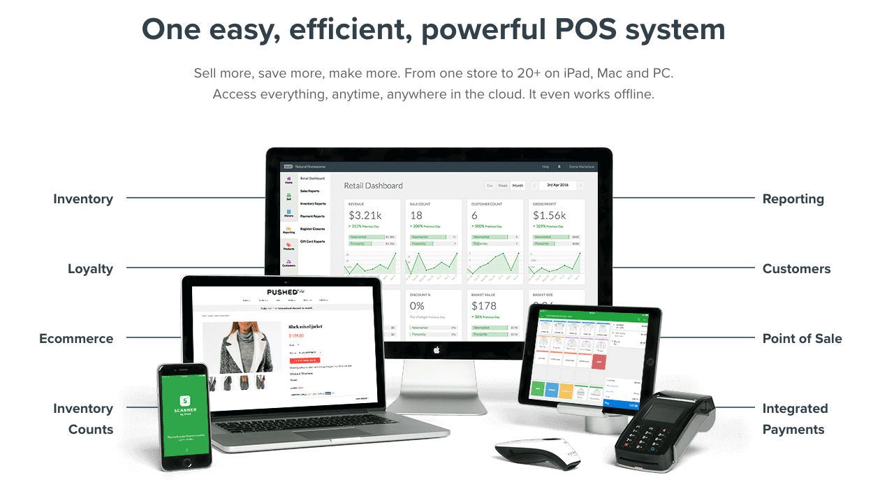 Vend POS System in all devices