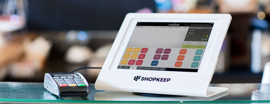 ShopKeep POS in Tablet with Card Reader