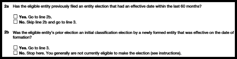 Form 8832: Previous Elections
