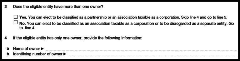 Form 8832: Owner Information