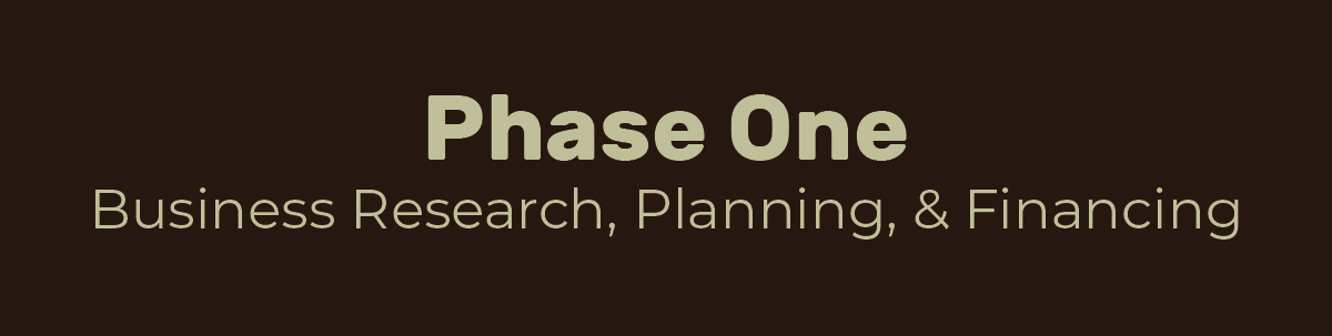 Phase One Business Research, Planning and Financing
