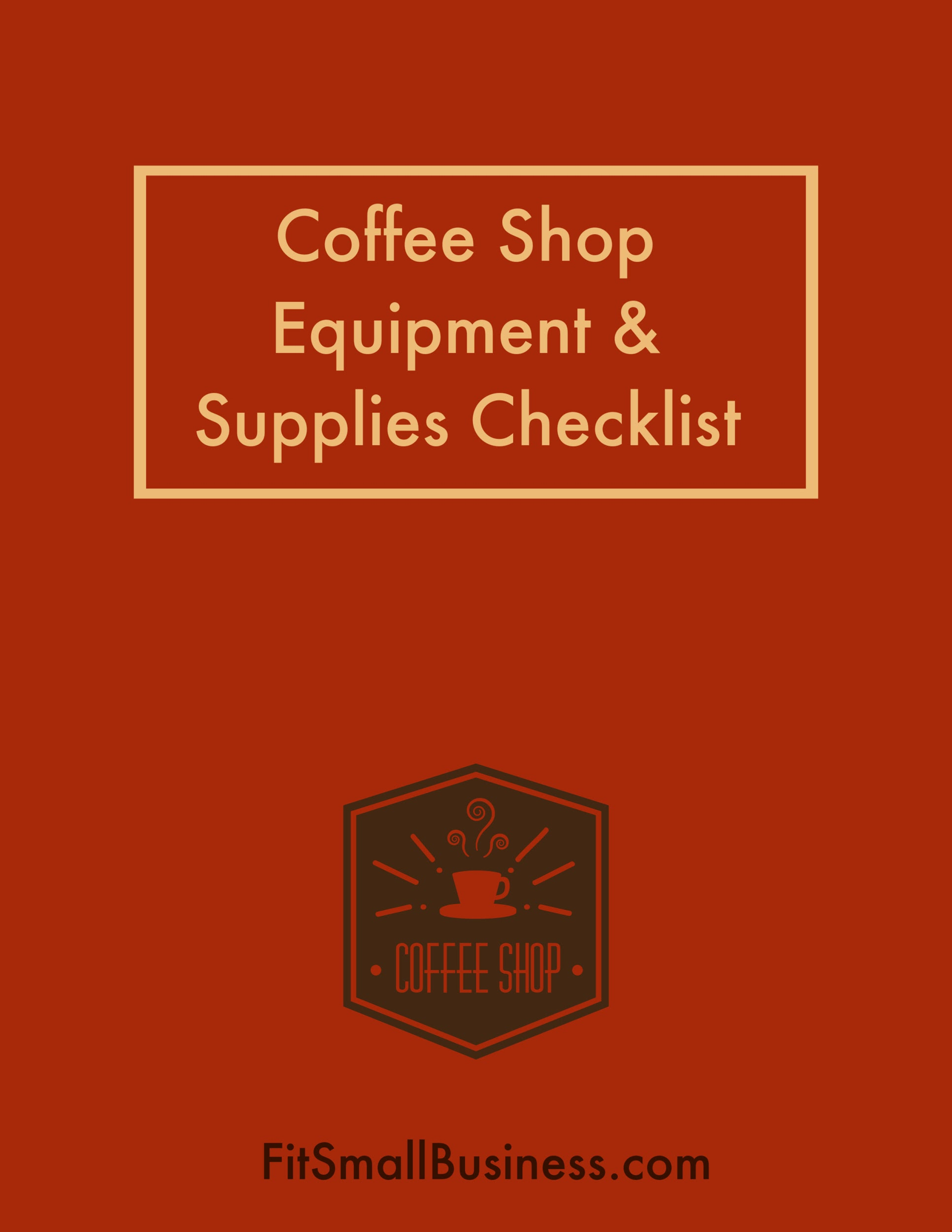 Coffee Shop Equipment & Supplies Checklist