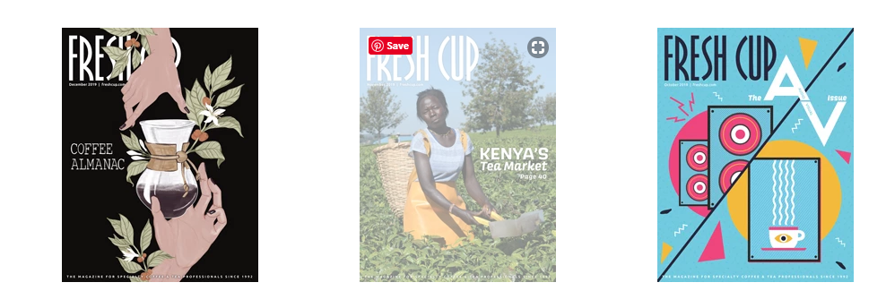 Screenshot of FreshCup magazine