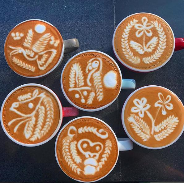 Screenshot of Latte art from Yuanyi Zhang