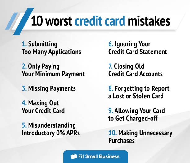 ten worst credit card mistakes