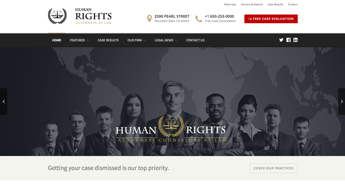 HumanRights WordPress Theme Homepage screenshot
