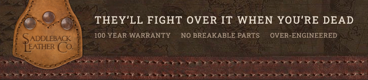 Saddleback's unique selling proposition using quality-made leather on their slogan