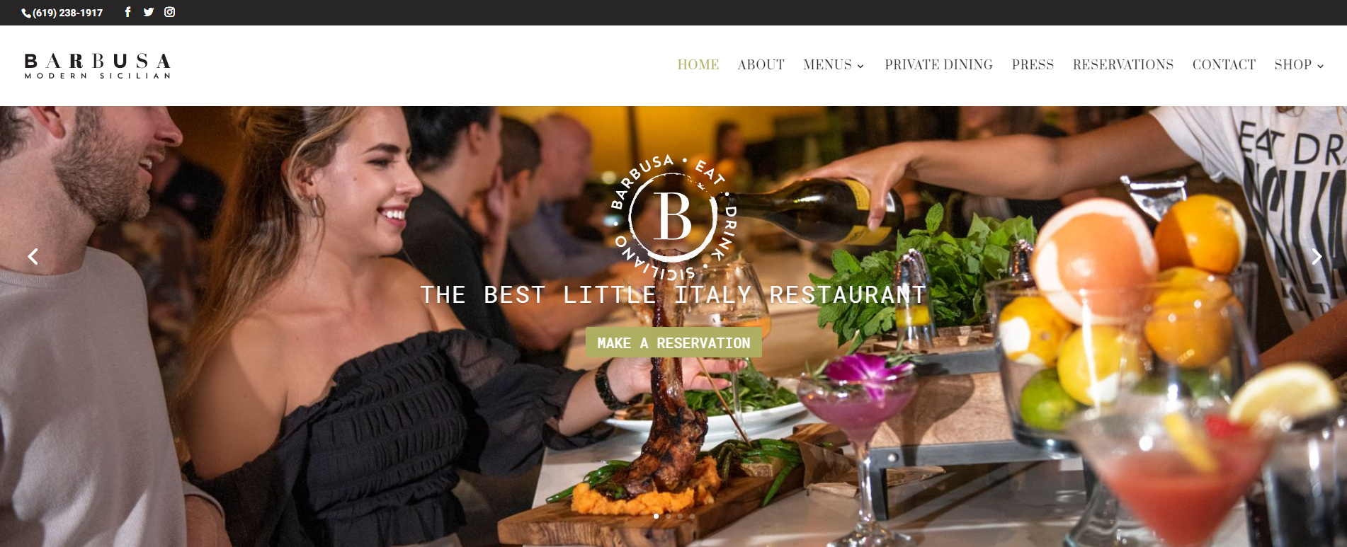 Barbusa WordPress Website