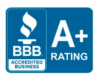 Better Business Bureau A+ rating trust seal
