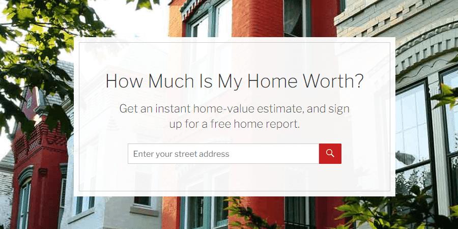 Home value estimator interface