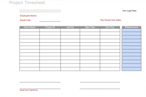 Daily Project Timesheet Template from fitsmallbusiness.com