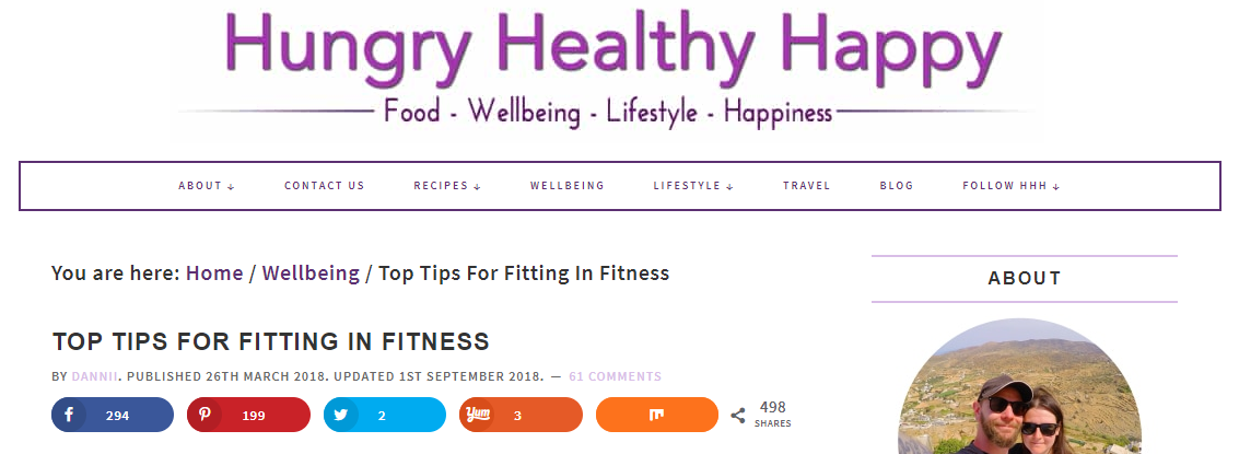 The Hungry Healthy Happy blog