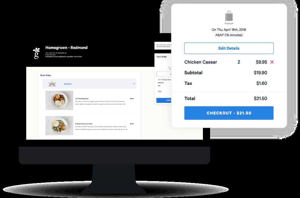 Toast Online Ordering checkout on desktop.