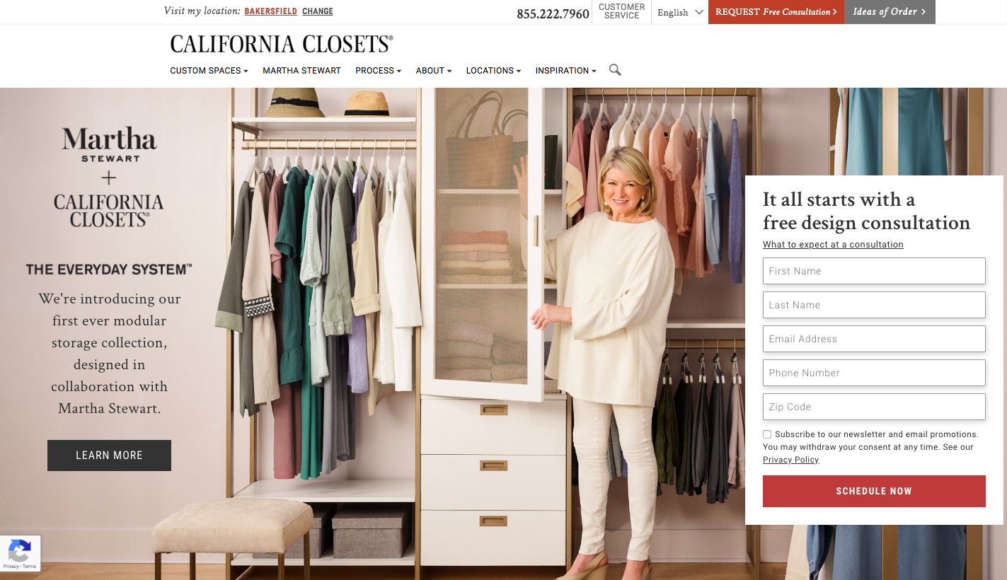 California Closets WordPress Website