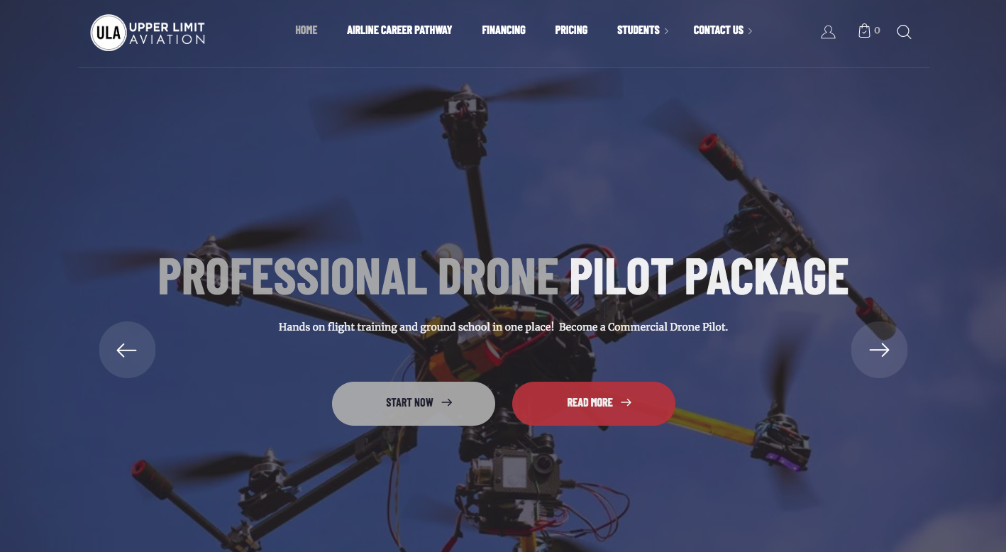 Upper Limit Aviation WordPress Website