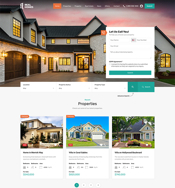 Real Homes Real Estate Website Template