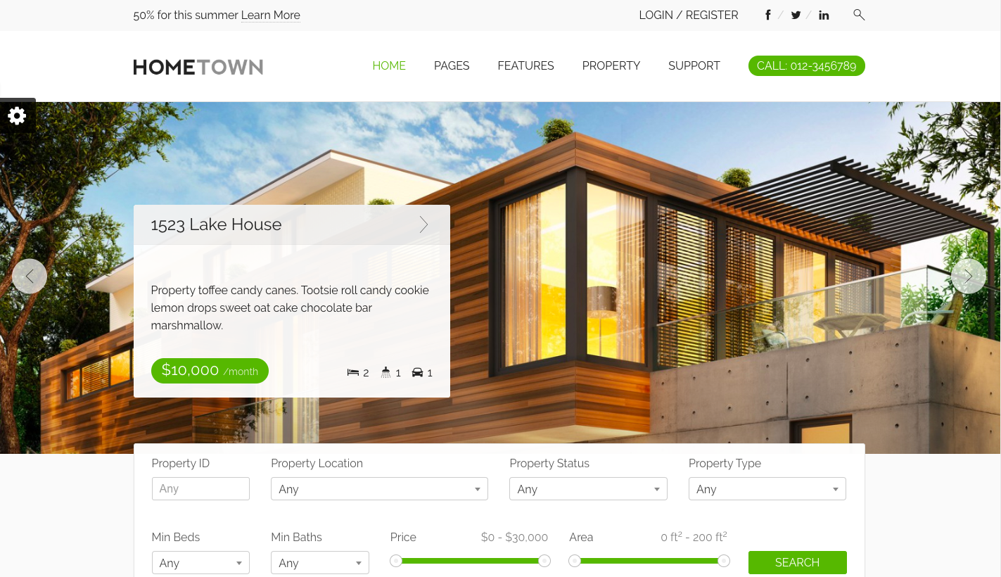 Hometown Real Estate Website Template