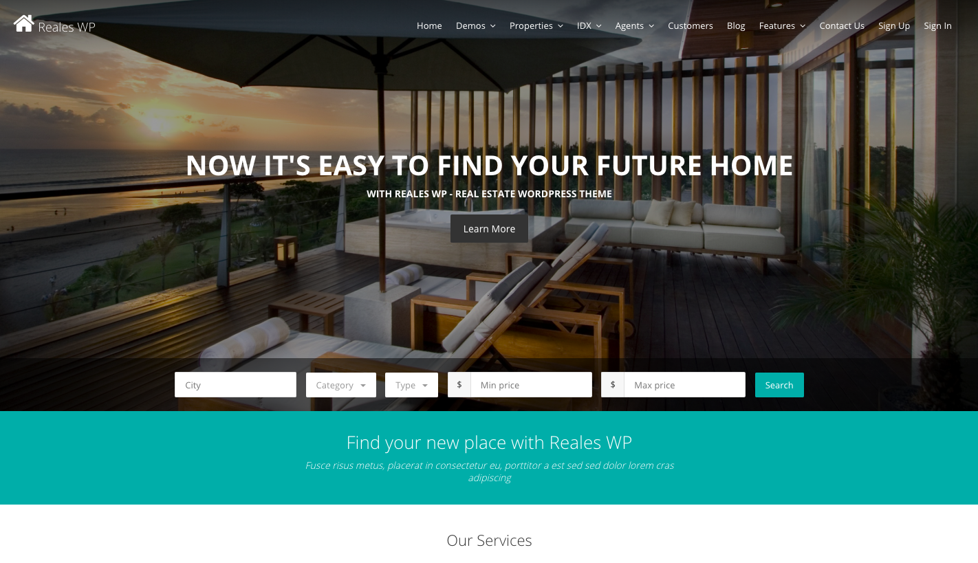 Reales WP Real Estate Theme