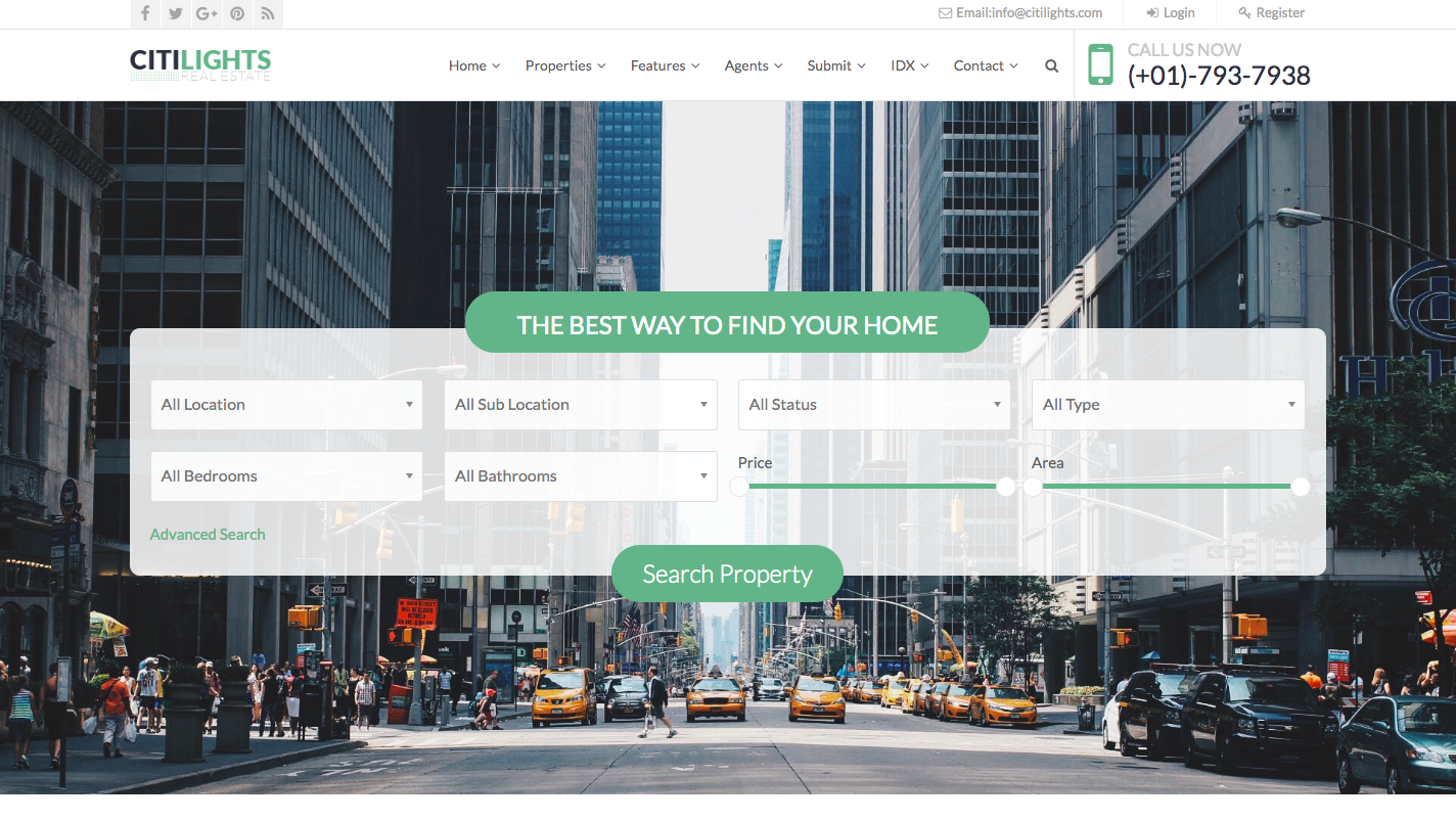CitiLights Real Estate Website Template