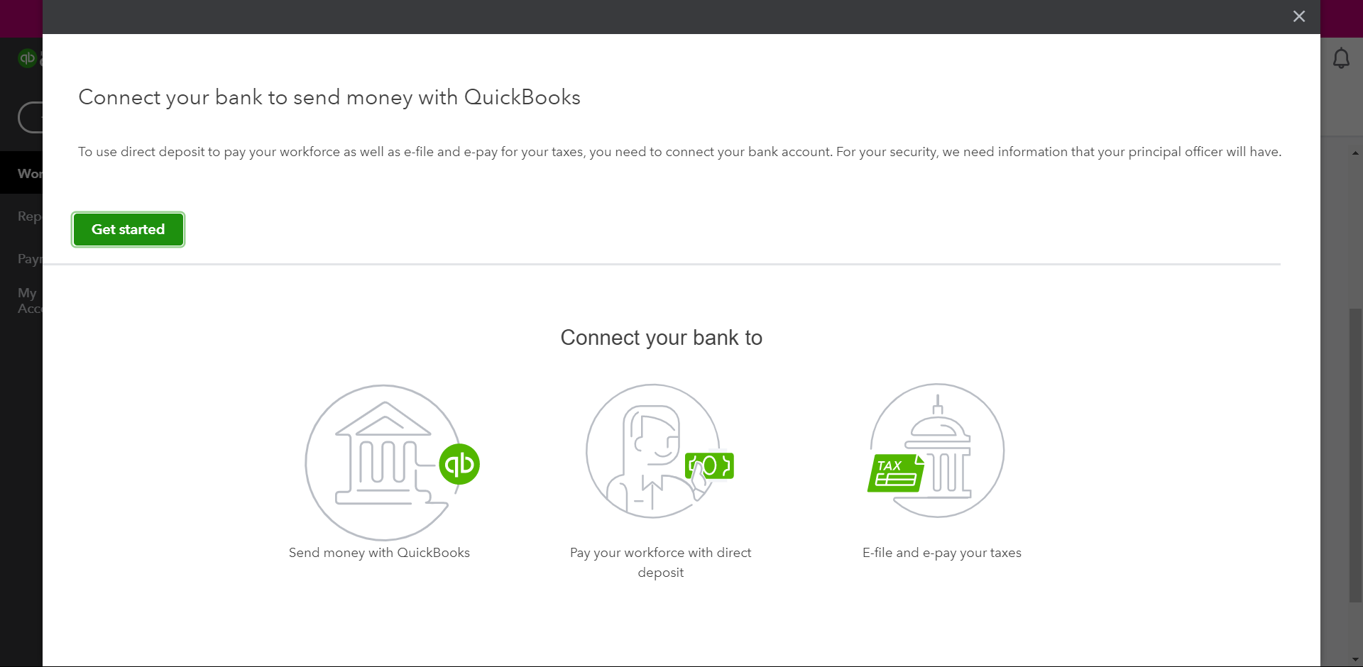 Connect Your Bank Account to QuickBooks Payroll