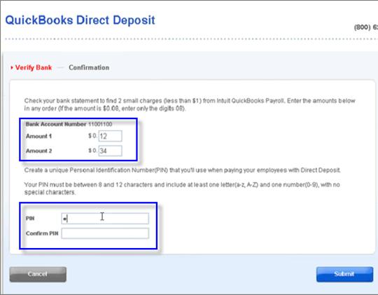 QuickBooks Direct Deposit