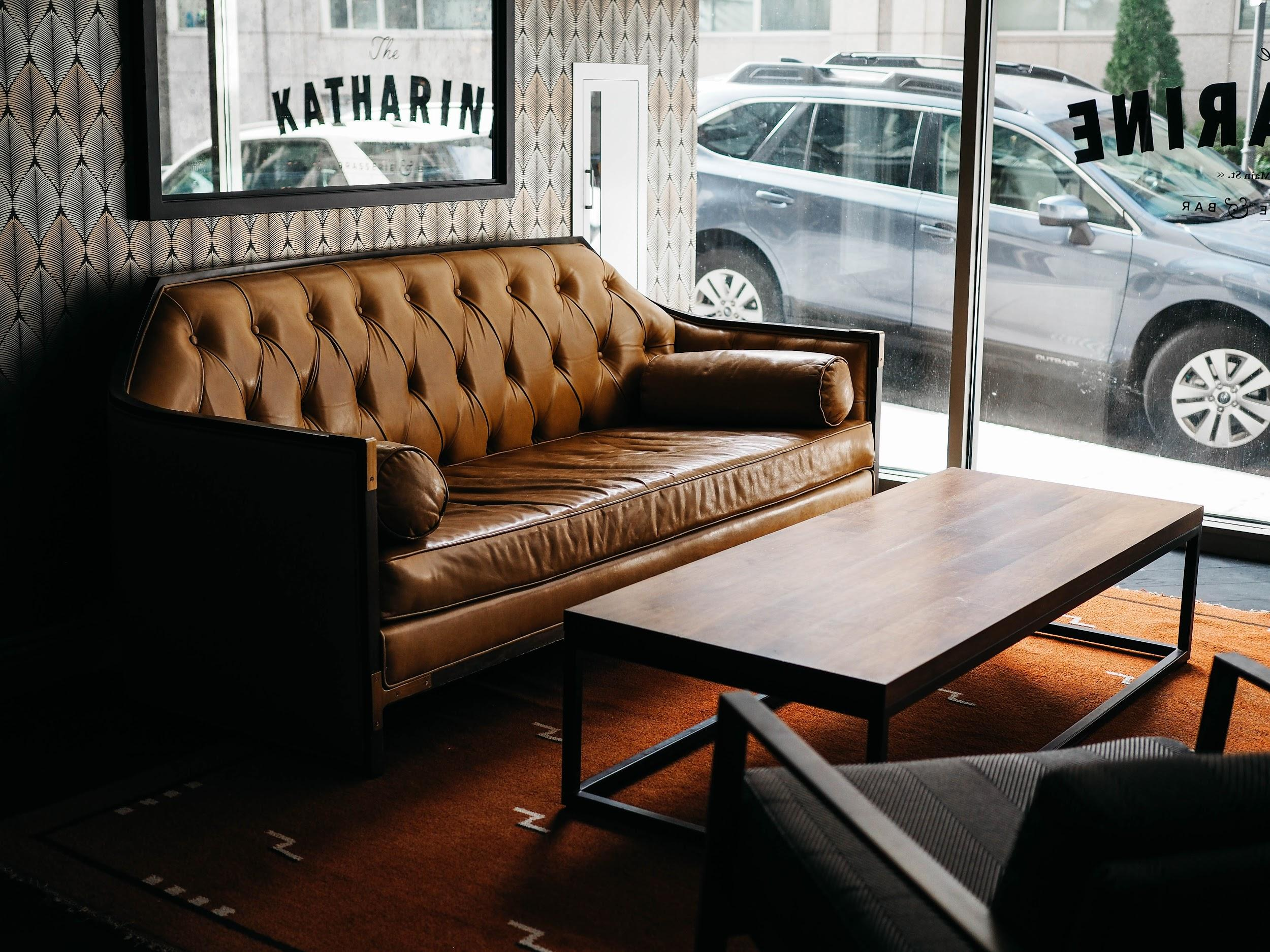 Couch in a coffee shop
