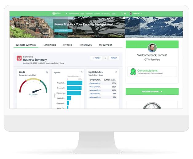 Salesforce dashboard in Desktop