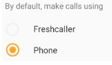 Select default caller option
