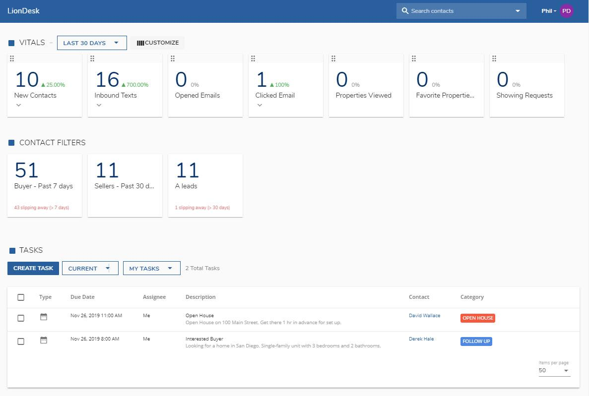 LionDesk CRM
