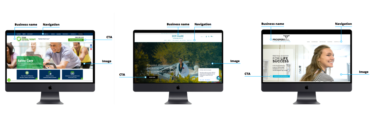 Website Homepage Examples