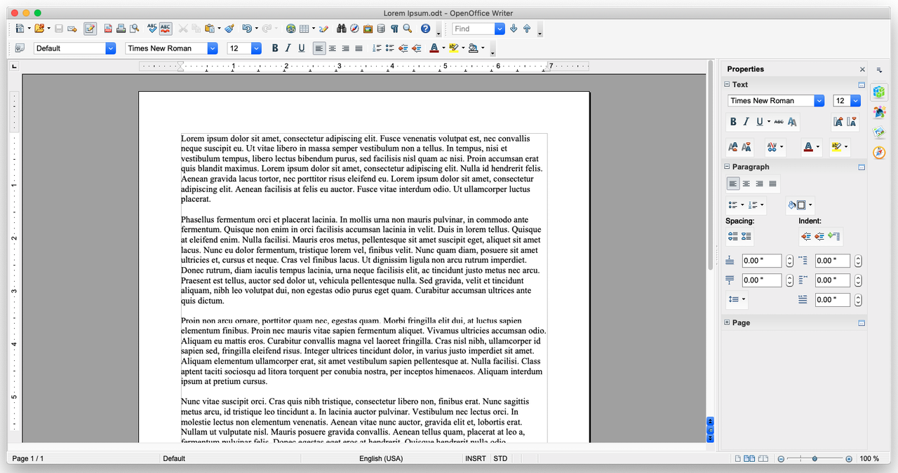 OpenOffice Main Composition Window