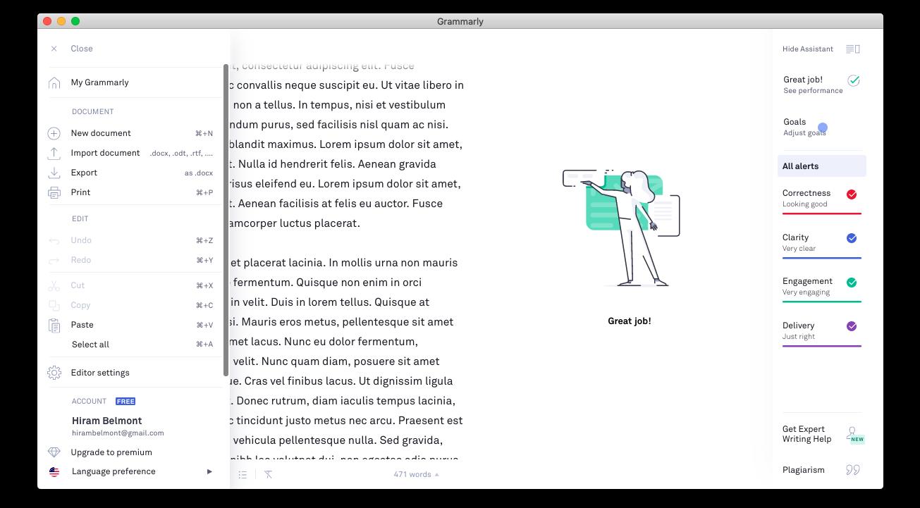 Grammarly macOX Desktop App