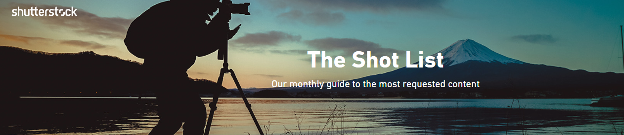 Shutterstock's Shot List banner