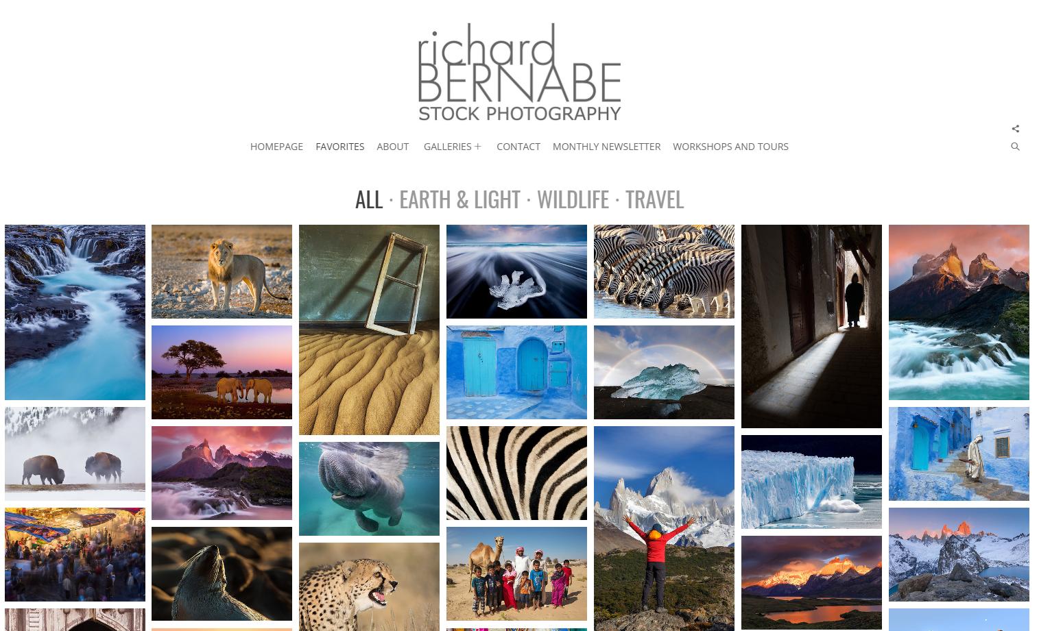 Richard Bernabe stock photography website using Photoshelter