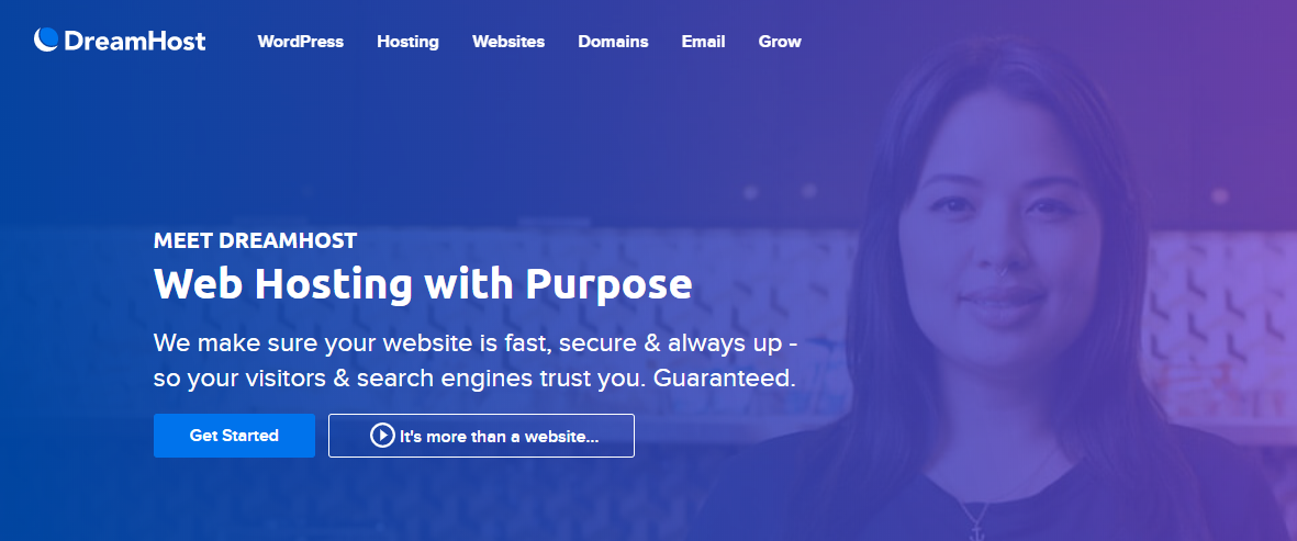 DreamHost homepage