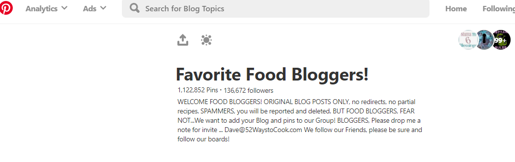 Favorite Food Bloggers in Pinterest