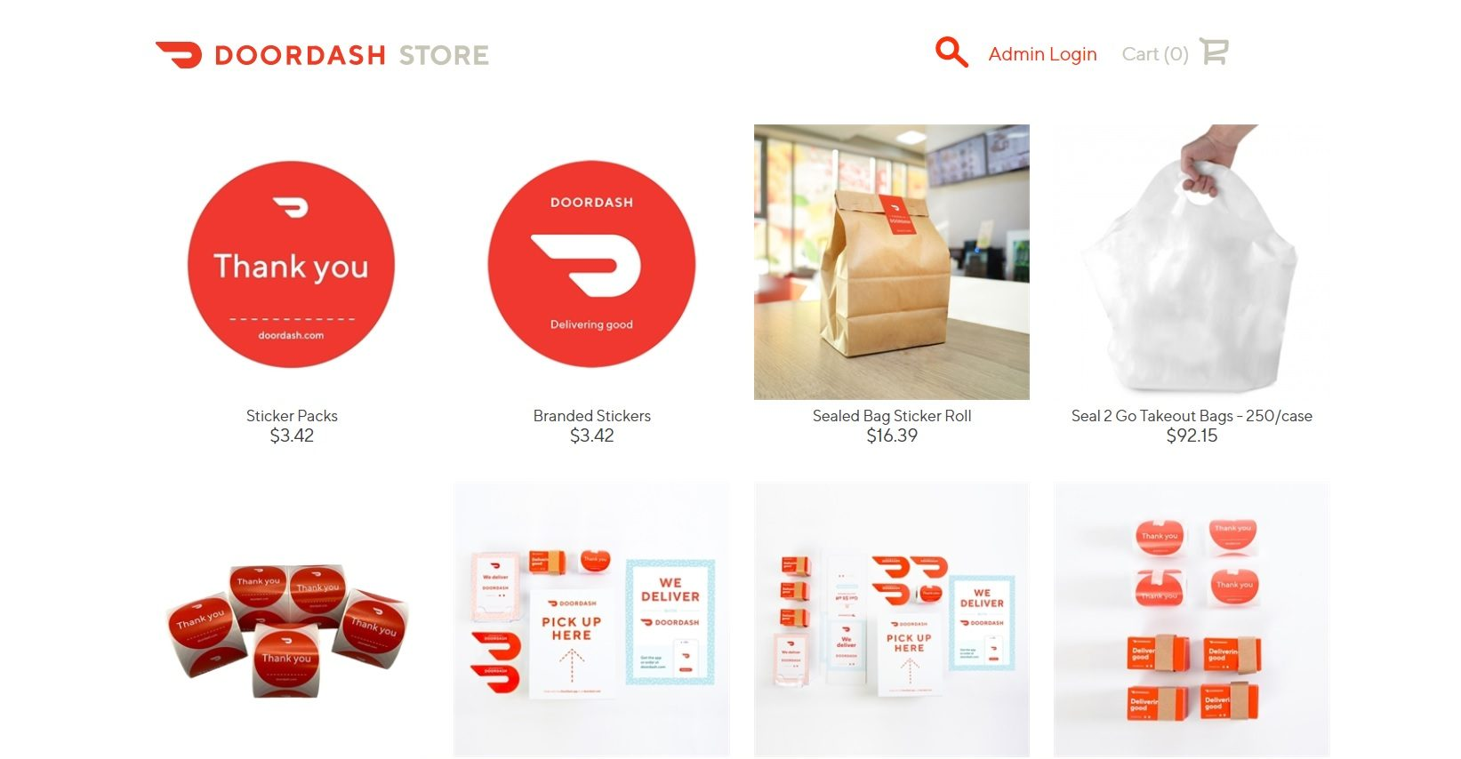 DoorDash offers in-store marketing materials