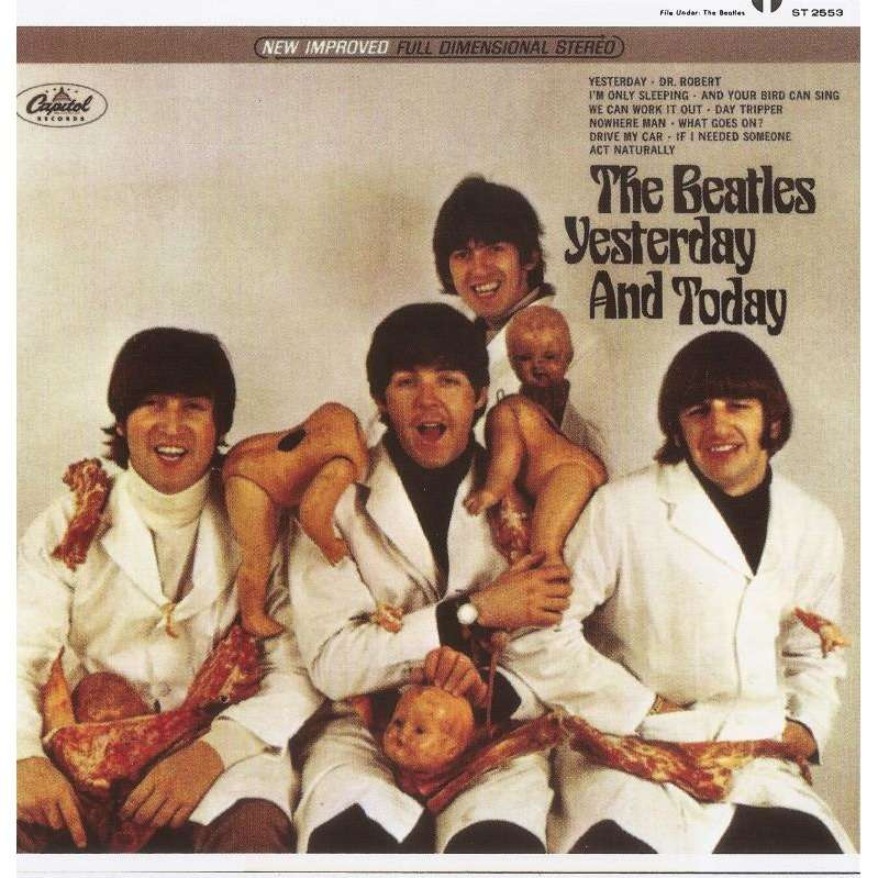 The Beatles Yesterday and Today album sleeve showing decapitated baby dolls.