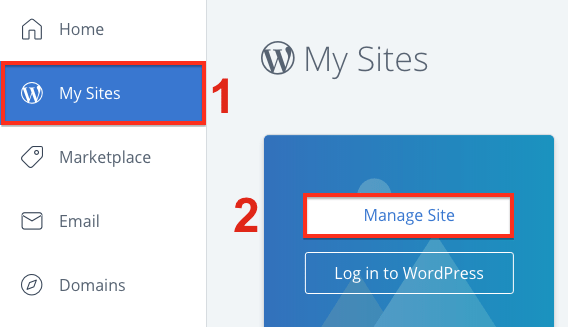 Step on how to install WordPress in Bluehost