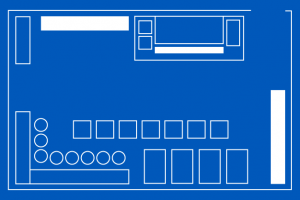 Narrow counter floor plan