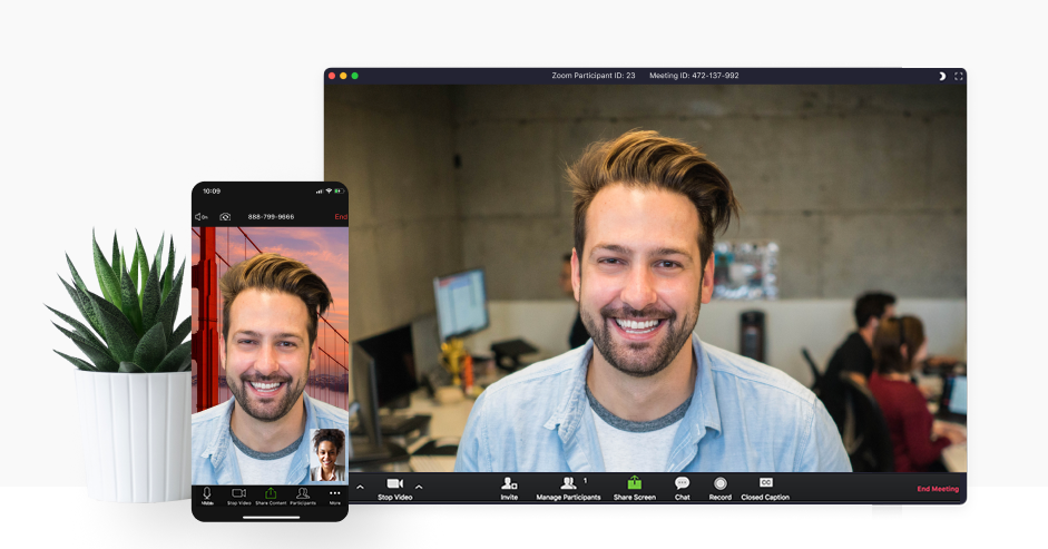 zoom video calling through mobile and computer