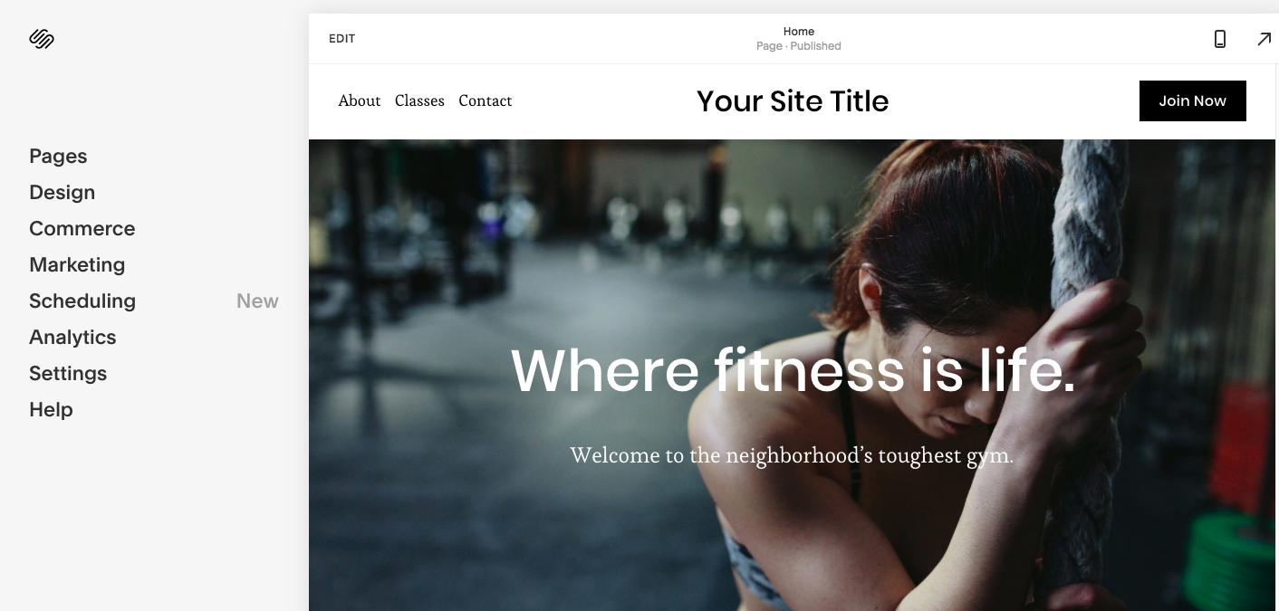 Squarespace Website Editor