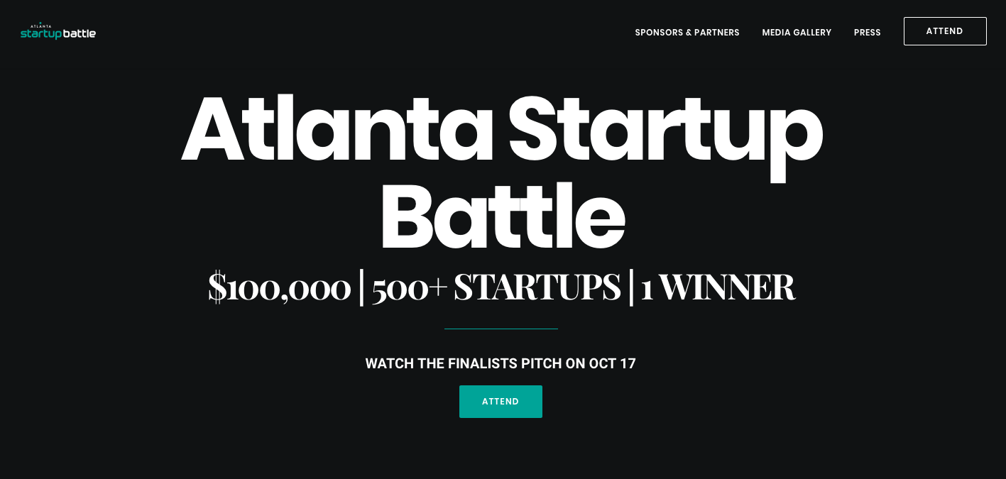 Atlanta Startup battle interface