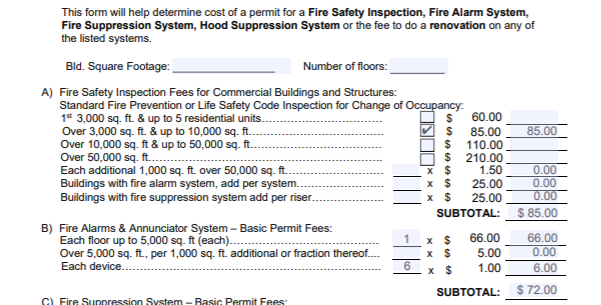 Bay Area Fire Safety Permit Sample