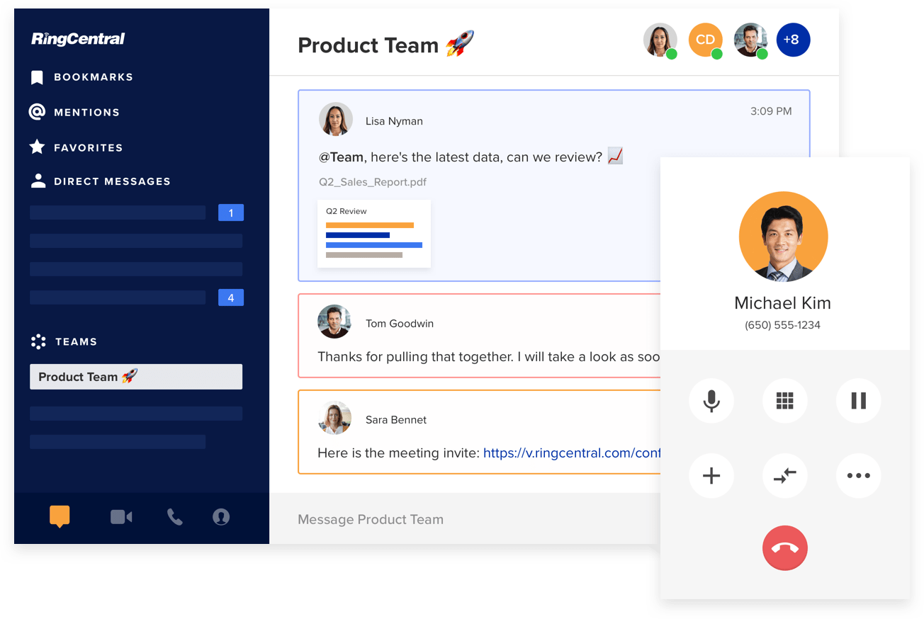 RingCentral's plans board