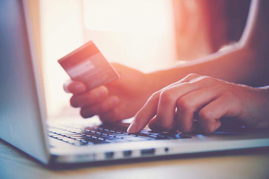 FI - credit card and laptop